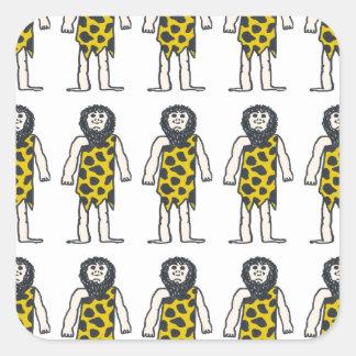 Hommes des cavernes stickers carrés