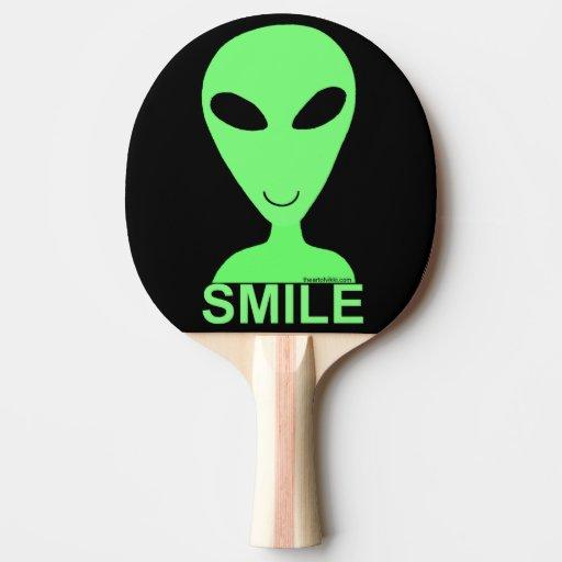 Hommes verts de l'alien LGM de sourire petits d'hu Raquette Tennis De Table