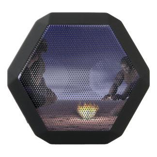 Homo erectus and fire - 3D render Black Bluetooth Speaker