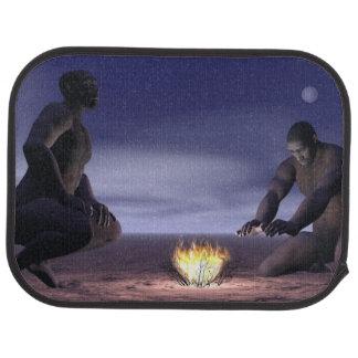 Homo erectus and fire - 3D render Car Mat