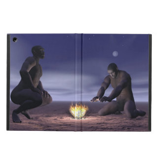 Homo erectus and fire - 3D render Cover For iPad Air
