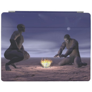 Homo erectus and fire - 3D render iPad Cover