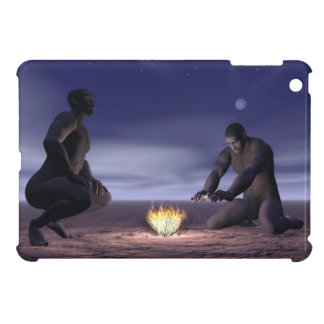 Homo erectus and fire - 3D render iPad Mini Covers