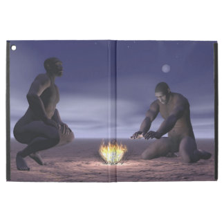 "Homo erectus and fire - 3D render iPad Pro 12.9"" Case"