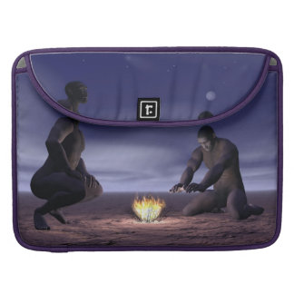 Homo erectus and fire - 3D render Sleeve For MacBook Pro