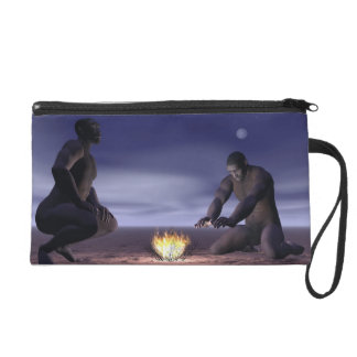 Homo erectus and fire - 3D render Wristlet