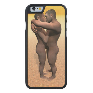Homo erectus couple - 3D render Carved Maple iPhone 6 Case