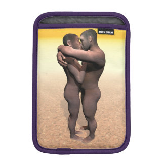 Homo erectus couple - 3D render iPad Mini Sleeve