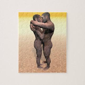 Homo erectus couple - 3D render Jigsaw Puzzle