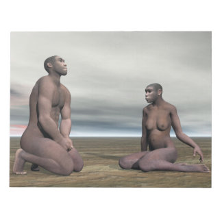 Homo erectus couple - 3D render Notepad