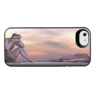 Homo erectus suffering - 3D render iPhone SE/5/5s Battery Case
