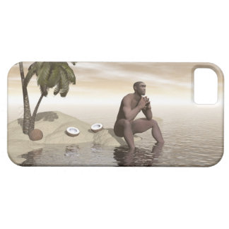 Homo erectus thinking alone - 3D render Case For The iPhone 5