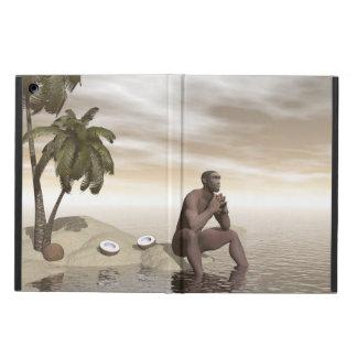 Homo erectus thinking alone - 3D render iPad Air Case