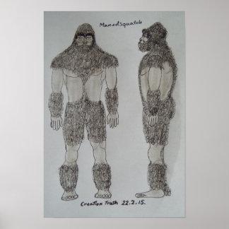 Homo Heibelbergensis sketch Poster