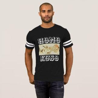 HOMO-KUSO Pandemonium football T-Shirt