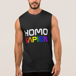 Homo Sapien Gay Pride Rainbow Sleeveless Shirt