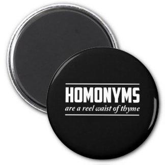 Homonyms 2 Inch Round Magnet