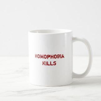 Homophobia Kills Basic White Mug