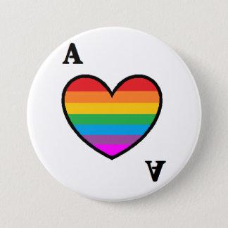 homoromantic Asexual Ace Button