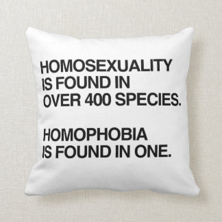 HOMOSEXUALITY IS FOUND IN 400 SPECIES THROW PILLOW