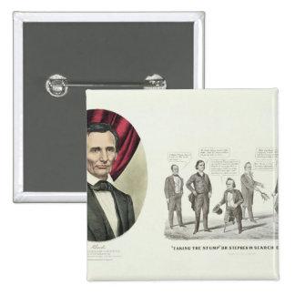 Hon. Abraham Lincoln 2 Inch Square Button