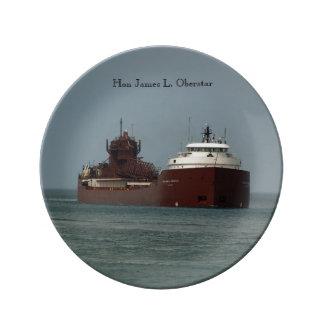 Hon James L. Oberstar decorative plate