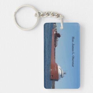 Hon James L. Oberstar rectangle key chain