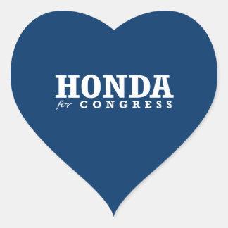 HONDA FOR CONGRESS 2014 HEART STICKER