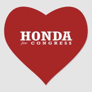 HONDA FOR CONGRESS 2014 HEART STICKERS