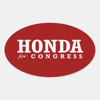 HONDA FOR CONGRESS 2014 OVAL STICKER