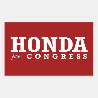HONDA FOR CONGRESS 2014 RECTANGULAR STICKER