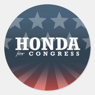 HONDA FOR CONGRESS 2014 ROUND STICKER
