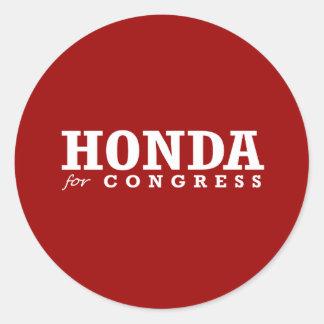 HONDA FOR CONGRESS 2014 STICKER
