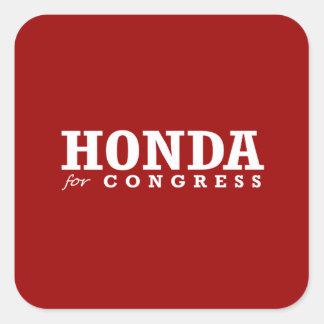 HONDA FOR CONGRESS 2014 SQUARE STICKER