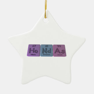 Hondas-Ho-Nd-As-Holmium-Neodymium-Arsenic.png Ceramic Ornament