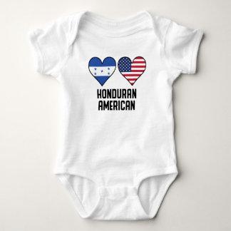 Honduran American Heart Flags Baby Bodysuit