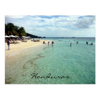 honduras beach postcard