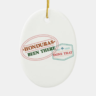 Honduras Been There Done That Ceramic Oval Ornament