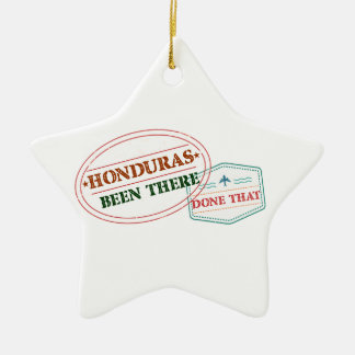 Honduras Been There Done That Ceramic Star Ornament