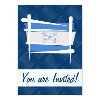Honduras Brush Flag 5x7 Paper Invitation Card