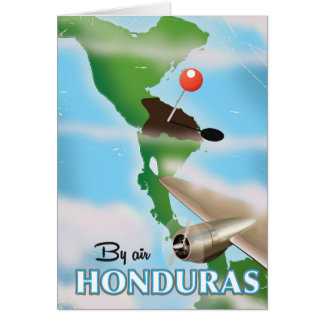 Honduras By air vintage travel poster Card