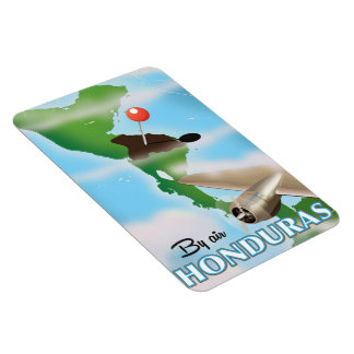 Honduras By air vintage travel poster Magnet