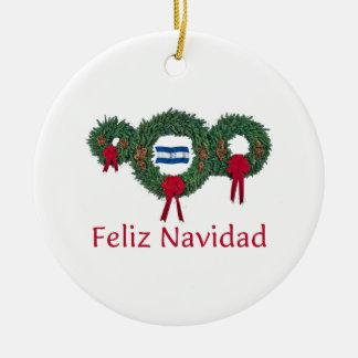 Honduras Christmas 2 Round Ceramic Ornament