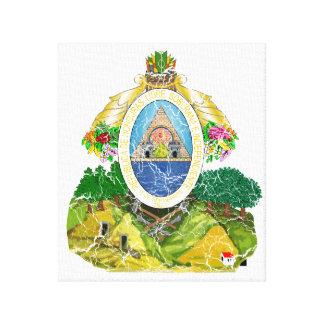 Honduras Coat Of Arms Canvas Print