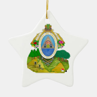 Honduras Coat of Arms Ceramic Ornament
