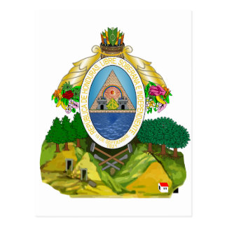 Honduras Coat of arms HN Postcard