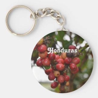Honduras Coffee Beans Basic Round Button Keychain
