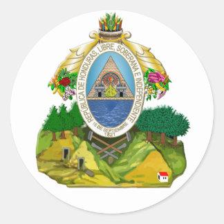 Honduras emblem Honduran coat of Arms Classic Round Sticker