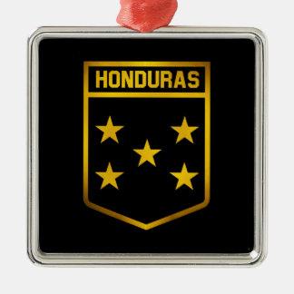 Honduras Emblem Silver-Colored Square Ornament