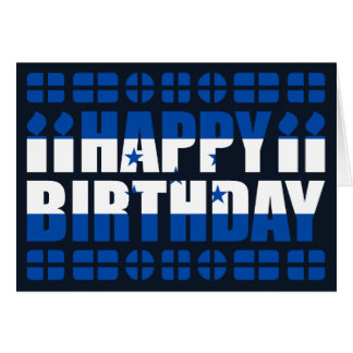 Honduras Flag Birthday Card